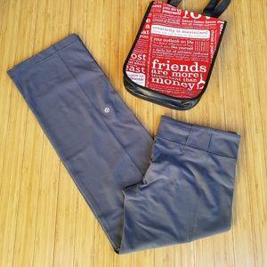 "Lululemon ""Belt It Out"" Gray Luon Yoga Pants"